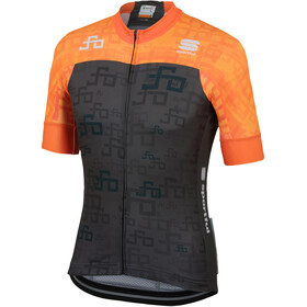 Sportful Sagan Logo Bodyfit Team Jersey Men orange SDR-green